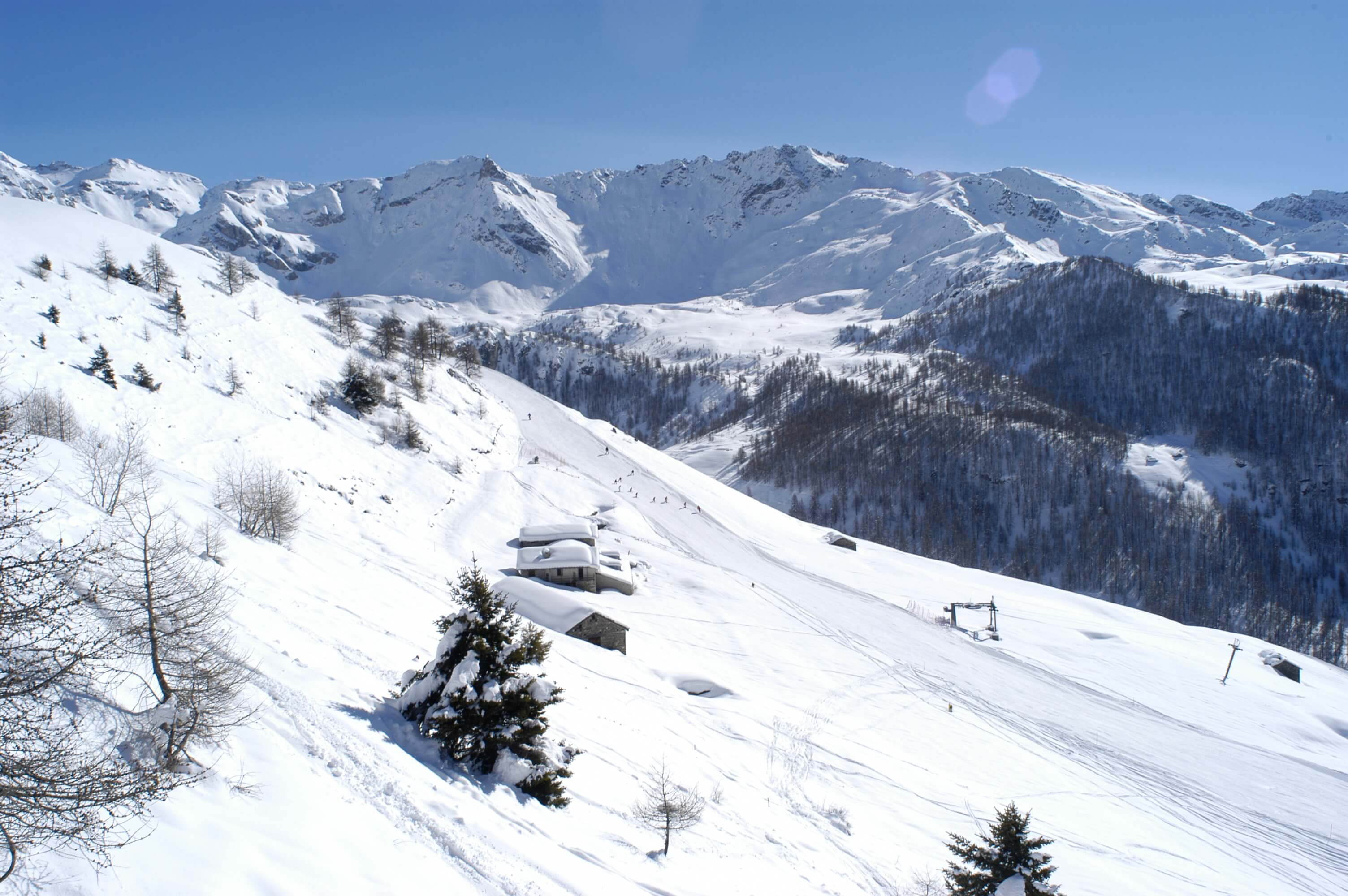 Chamois - piste da sci