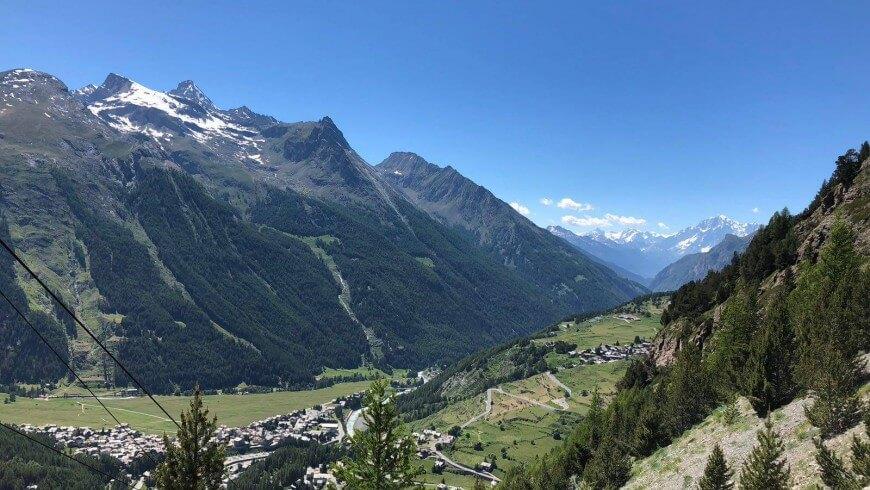 Cogne, vista panoramica dalle Miniere