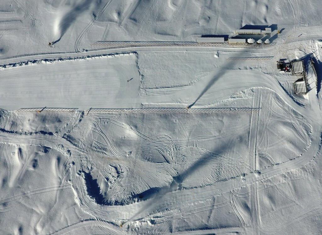 Lo Stadio dello sci di fondo della Coppa del Mondo di Sci Nordico a Cogne