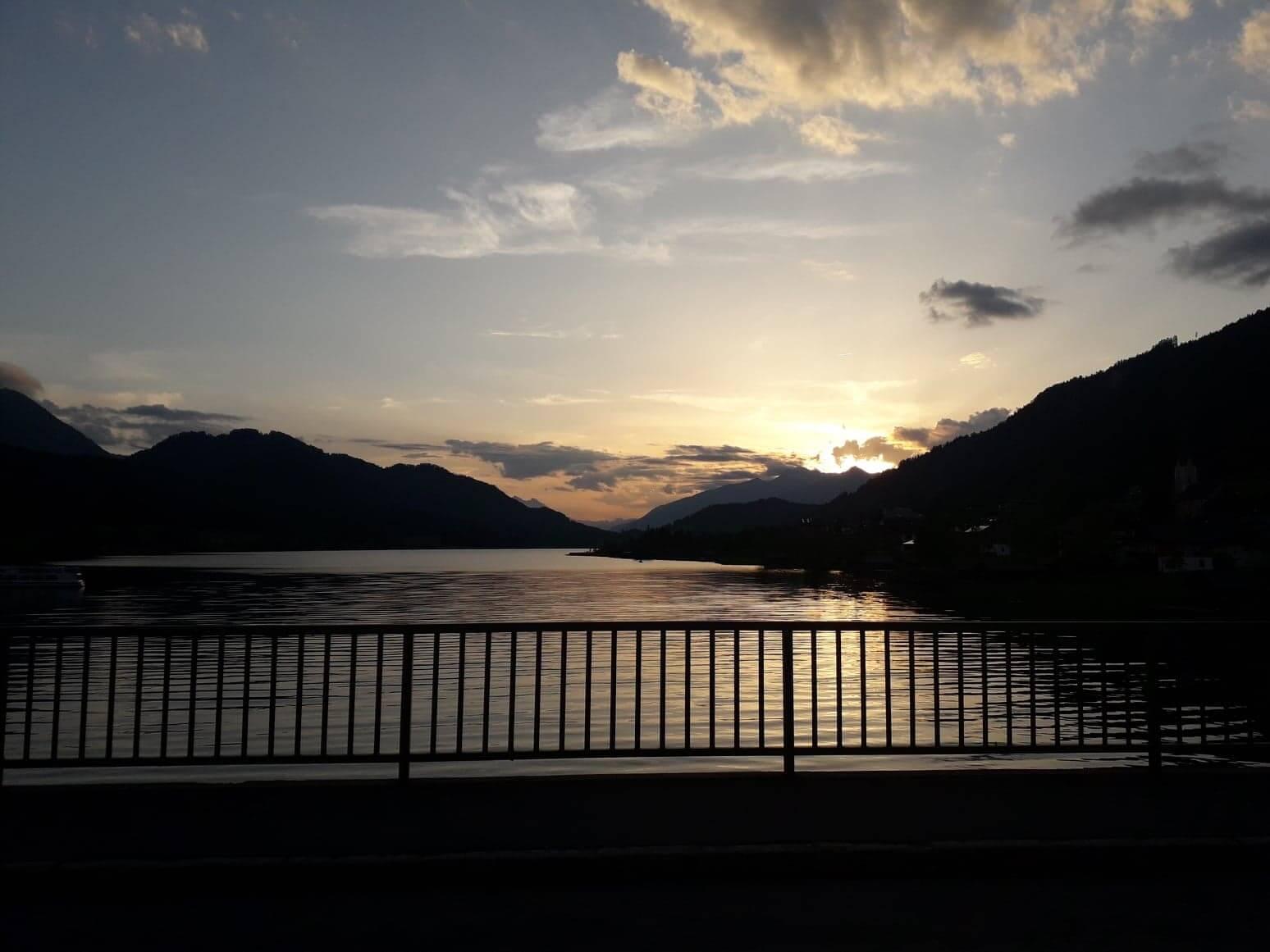 Weissensee e il suo tramonto scaldano il cuore