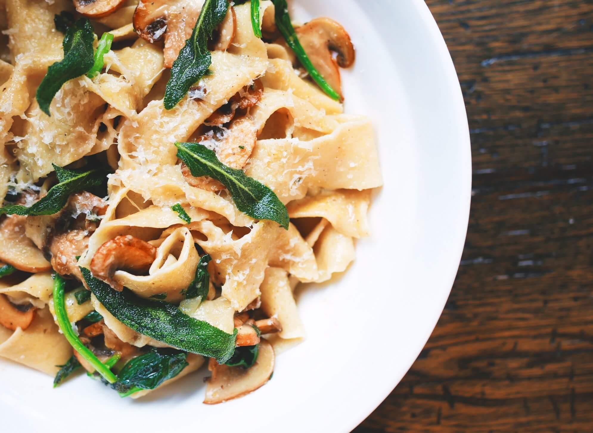 Delizioso piatto a base di funghi