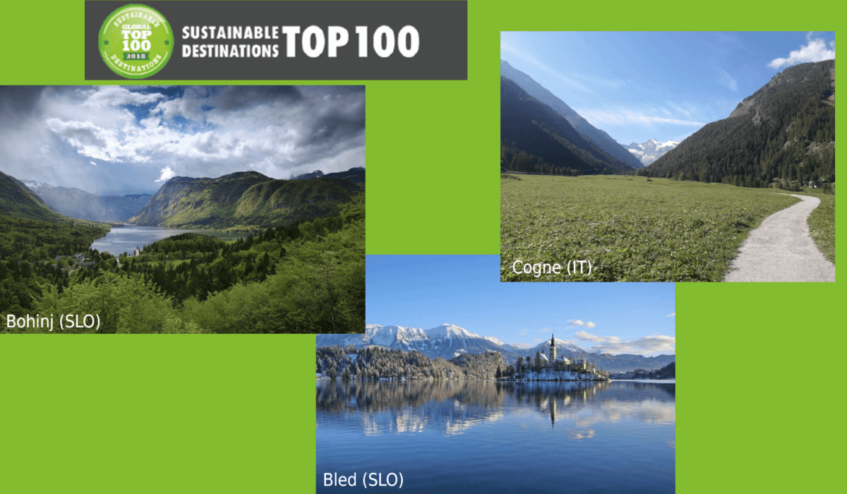 Bohinj, Bled e Cogne elette Sustainable Destinations 2019