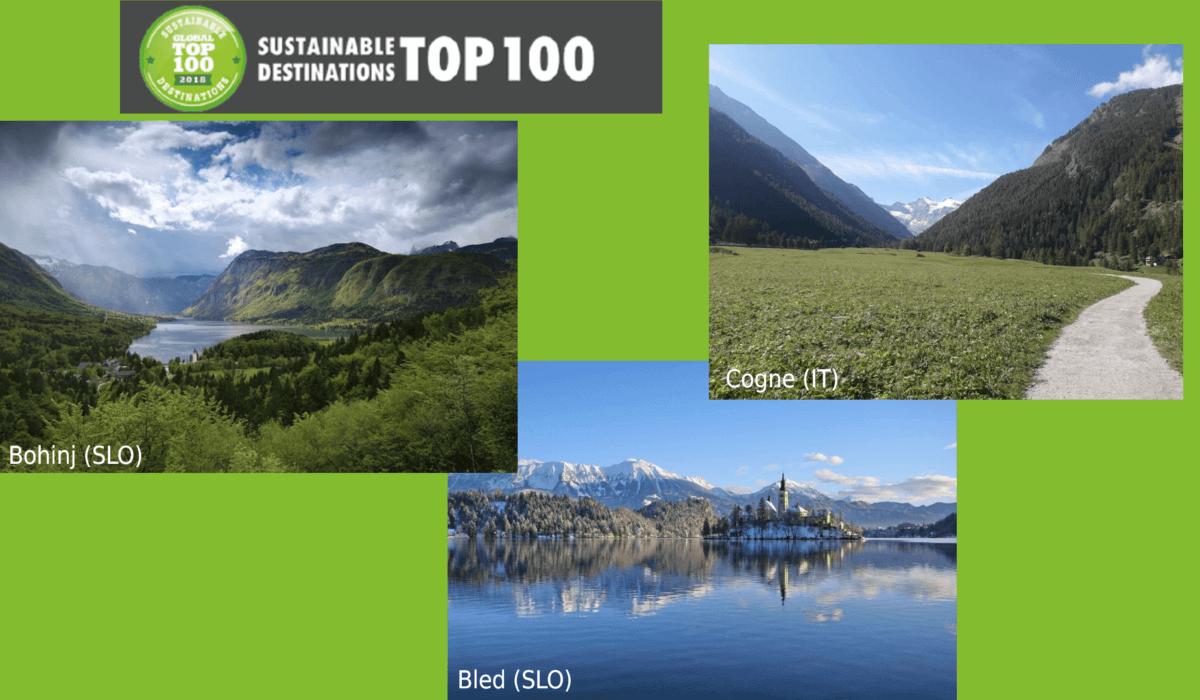 Bohinj, Bled e Cogne elette Sustainable Destinations 2019