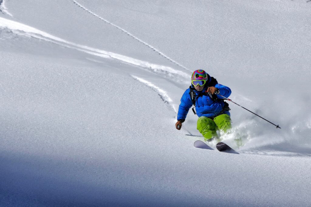 Freeride su neve fresca