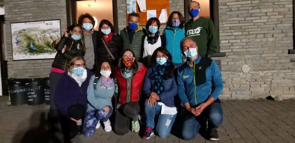 Foto di gruppo dei sanitari Covid a Ceresole Reale