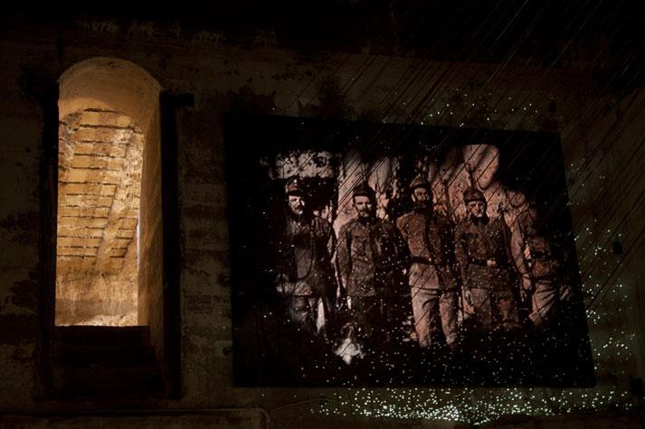 Forte Belvedere, dettaglio delle gallerie interne