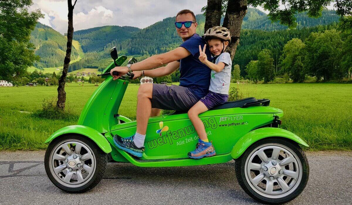 Werfenweng, un mondo di buffi veicoli (elettrici naturalmente!)