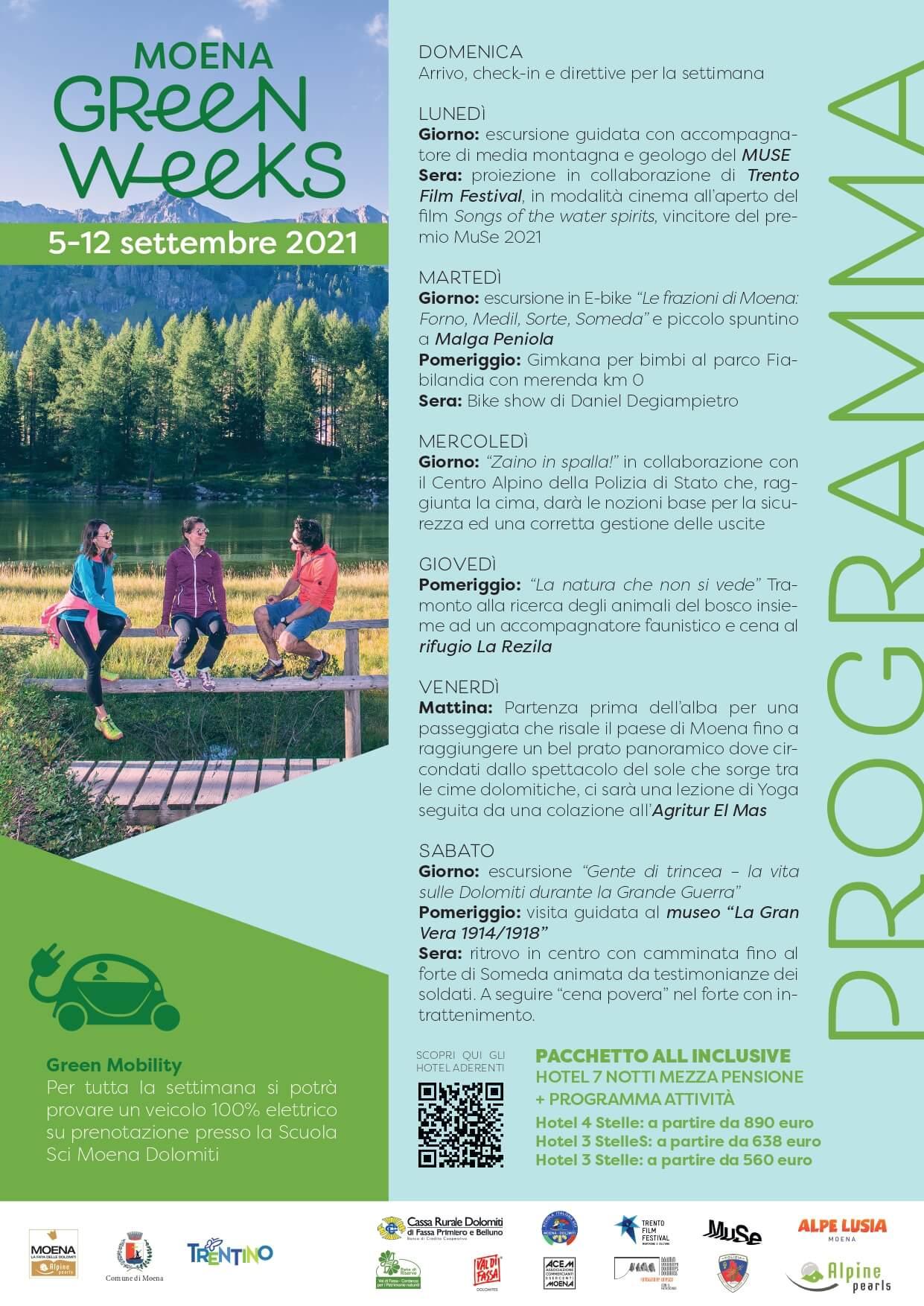Moena Green Week settembre 2021